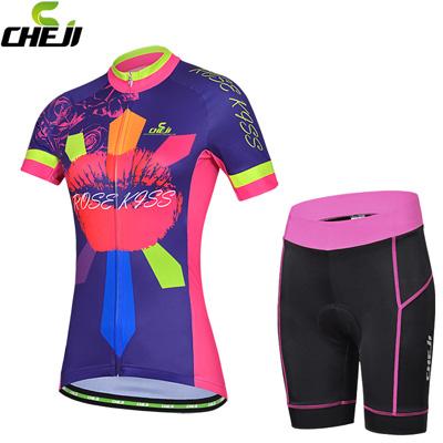 CHEJIサイクリング 女性用半袖 ...