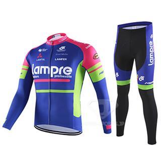 ランプレ ロードバイク冬用服 上下セット 2016 LAMPRE
