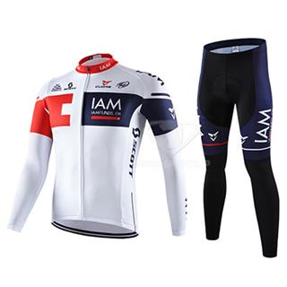 2016年IAM 冬用ロードレースウェア 上下セット 肌面の起毛加工