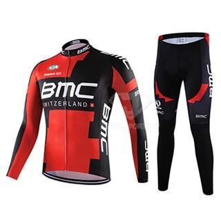 2016年BMC 自転車ロードレース冬物服 上下2点セット