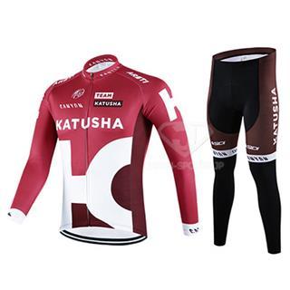 カチューシャ 冬用自転車ロードレースウェア 2点セット 2016KATUSHA