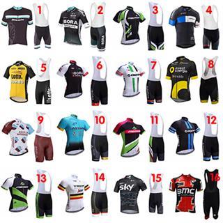 2017夏 レプリカサイクリングチームウェア ビブショーツセット 16種類デザイン