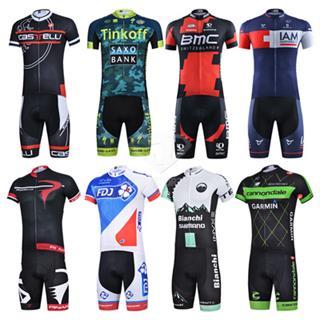 2015年 8種デザイン レーシングスキンスーツ 半袖 サイクルワンピース