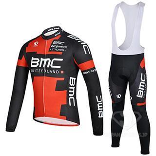 BMC 2015 ロングスリーブ ジャージ ビブタイツ 上下セット