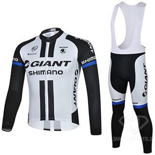 GIANT-SHIMANO 2014年 ホワイト ジャージ ビブタイツ 上下セット