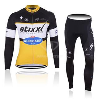 2017年版 クイックステップ etixx 自転車競技レースウェア 長袖