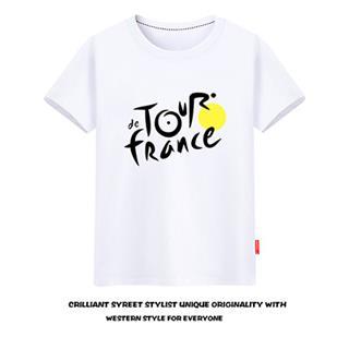 Tour de France プリント サイクリングTシャツ 半袖 100%綿 8色