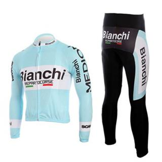 2010 Bianchi ビアンキ サイクル春秋向け長袖ジャージセット