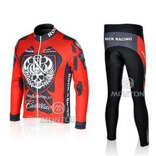 08ROCK RACING サイクルジャージ長袖デザインジャージ&ズボンセット