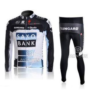 2010SAXO BANK サイクルジャージ長袖デザインセット