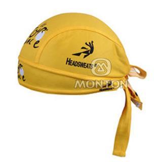 2011年版Tour De France サイクルバンダナキャップ 黄色 メッシュ仕様