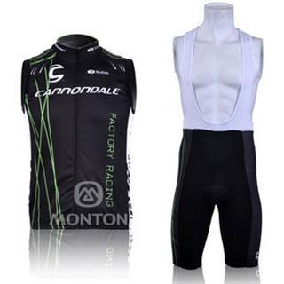 2010年cannondale サイクルチョッキ(袖なしジャージ) ビブショーツ セット