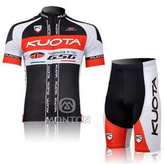 2011年KUOTA(黒 赤) GSGサイクルウェア 半袖ジャージ パンツ セット
