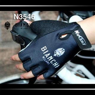 ブラック BIANCHI 指切りグローブ レーシンググローブ N3546