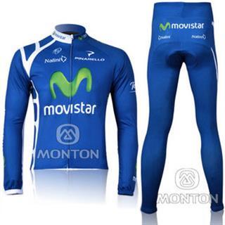 MOVISTAR 2011年 モビスター サイクル薄手長袖セット
