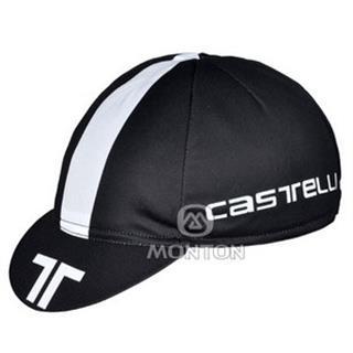 2011年 黒白 CASTELLI サイクルキャップ 汗止め メッシュ仕様