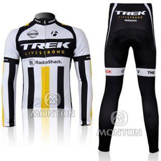 2011年 TREK 白色 裏起毛冬用自転車ロードレースウェア トレック NISSAN