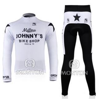 2010年 ジャニーズ 秋冬用 自転車ウェア 裏起毛 ホワイト JOHNNY′S