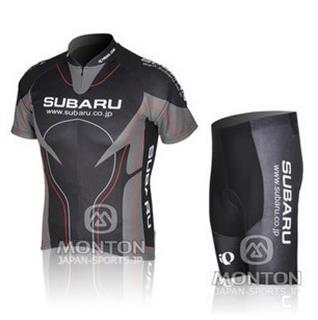 黒 SUBARU 2011年 夏用サイクルジャージ スバル じてんしゃレーサーパンツ