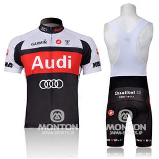 2011年モデル Audi 夏用ビブショーツ サイクル半袖ジャージ セット