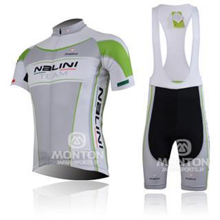 ナリーニ 白緑 2013年モデル|サイクル半袖ジャージ|NALINIビブパンツ