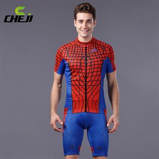 CHEJIヒーローシリーズ スパイダーマン 夏用サイクルウェアセット