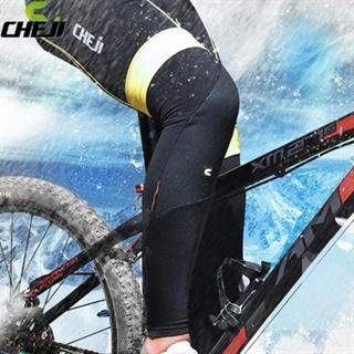 CHEJI 保温効果を持ち裏起毛素材 ストレッチ性に優れるレッグウォーマー ブラック