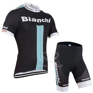 BIANCHI 2015 ビアンキ レプリカ 半袖ジャージ サイクルパンツ ブラック
