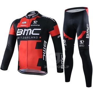 BMC2015 薄手長袖ジャージ サイクルロングタイツ 秋に最適な自転車ウェア