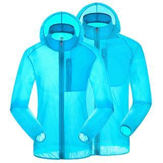 UV CUT 薄手透明 防風 超軽量ウインドブレーカー 7色選択可