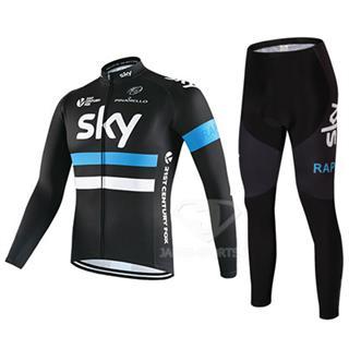 2016年スカイ ロードバイク冬服 上下セット SKY