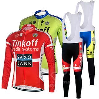 Tinkoff SAXOBANK 2015年版 プリントジャージ ビブタイツ セット