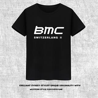 BMC プリント じてんしゃTシャツ 半袖 100%綿 8色