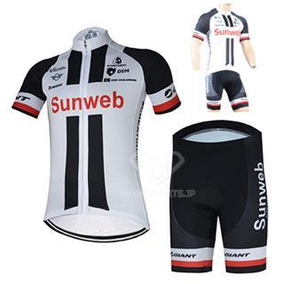 2018 Sunweb レプリカ 自転車ジャージ サイクルショーツ