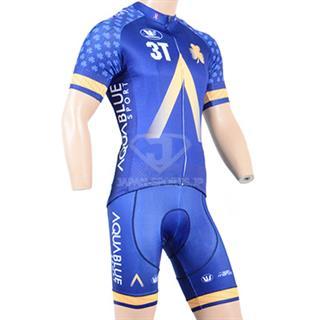 2018年 3T AQUABLUE sports 半袖自転車ウェア