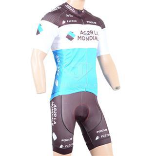 2018 AG2R LA MONDIALE 速乾自転車ジャージ パンツ