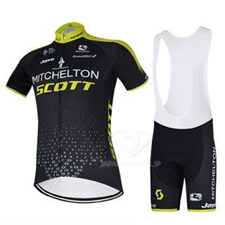 2018 スコット Mitchelton サイクリング 服装 夏 ブラック ビブタイプ