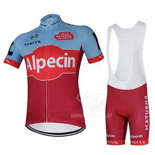 2018 カチューシャ Alpecin 夏 ロード レース ウェア ビブパンツセット