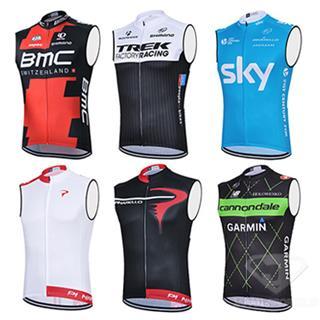 7種のデザイン 2015年版 サイクリングチーム 夏用チョッキ