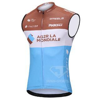 2018年版レプリカ AG2R LA MONDIALE 袖なしシャツ