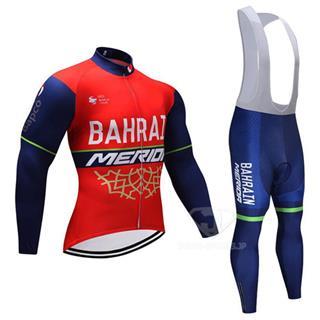2018年モデル MERIDA-BAHRAIN レプリカ サイクルウェア 長袖 ビブタイプ