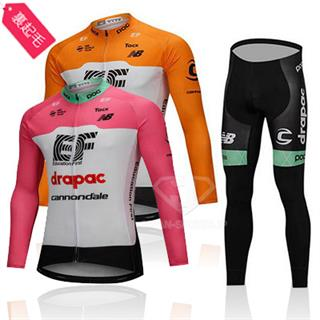 2018年 EF drapac cannondale 秋冬自転車ロードウェア 全体に起毛素材