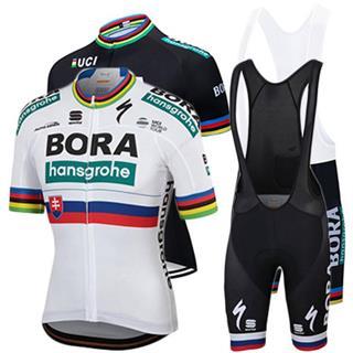 ボーラ2019年 春夏 自転車 BORA チームユニフォーム ビブタイプ
