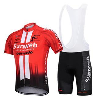 2019年 サンウェブ ビブタイプ クロスバイク ウェア Sunweb ロードジャージ