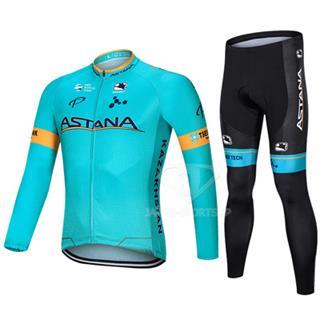 2019年モデル アスタナ 自転車 秋用 長袖サイクリングウェア セット ASTANA